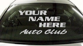 Custom589 Custom YOURNAMEHERE Auto Club Decal