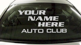 Custom592 Custom YOURNAMEHERE Auto Club Decal