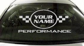 Custom611 Custom YOURNAMEHERE Performance Decal