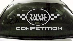 Custom616 Custom YOURNAMEHERE Competition Decal