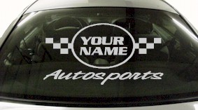 Custom617 Custom YOURNAMEHERE Autosports Decal