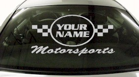 Custom620 Custom YOURNAMEHERE Motorsports Decal