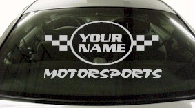 Custom621 Custom YOURNAMEHERE Motorsports Decal