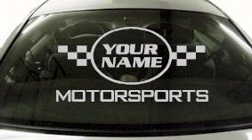 Custom622 Custom YOURNAMEHERE Motorsports Decal