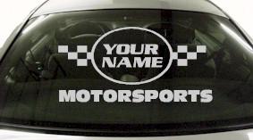 Custom623 Custom YOURNAMEHERE Motorsports Decal