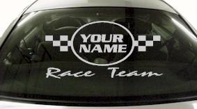 Custom625 Custom YOURNAMEHERE Race Team Decal