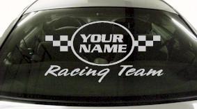 Custom630 Custom YOURNAMEHERE Racing Team Decal