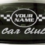 Custom635 Custom YOURNAMEHERE Car Club Decal