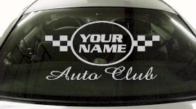 Custom643 Custom YOURNAMEHERE Auto Club Decal