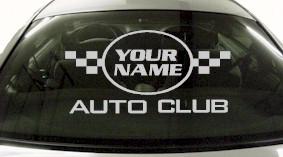 Custom644 Custom YOURNAMEHERE Auto Club Decal