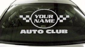 Custom645 Custom YOURNAMEHERE Auto Club Decal