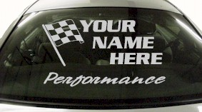 Custom657 Custom YOURNAMEHERE Performance Decal