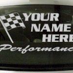 Custom658 Custom YOURNAMEHERE Performance Decal
