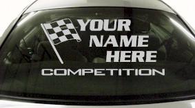 Custom666 Custom YOURNAMEHERE Competition Decal