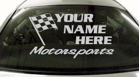 Custom669 Custom YOURNAMEHERE Motorsports Decal