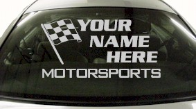 Custom672 Custom YOURNAMEHERE Motorsports Decal