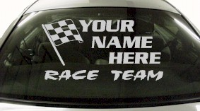 Custom676 Custom YOURNAMEHERE Race Team Decal