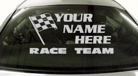 Custom678 Custom YOURNAMEHERE Race Team Decal