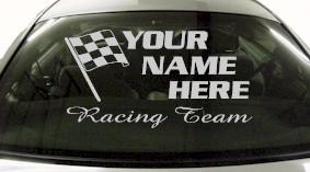 Custom680 Custom YOURNAMEHERE Racing Team Decal