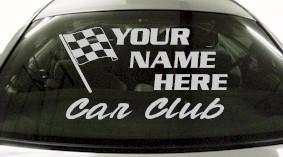 Custom684 Custom YOURNAMEHERE Car Club Decal