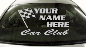 Custom685 Custom YOURNAMEHERE Car Club Decal