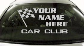 Custom687 Custom YOURNAMEHERE Car Club Decal