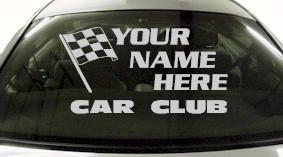 Custom688 Custom YOURNAMEHERE Car Club Decal