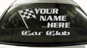 Custom689 Custom YOURNAMEHERE Car Club Decal