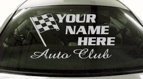 Custom692 Custom YOURNAMEHERE Auto Club Decal