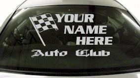 Custom695 Custom YOURNAMEHERE Auto Club Decal