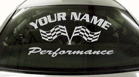 Custom708 Custom YOURNAMEHERE Performance Decal