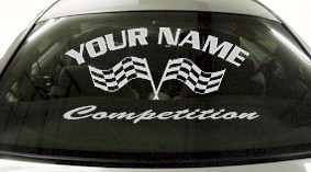 Custom715 Custom YOURNAMEHERE Competition Decal