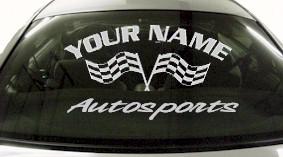 Custom717 Custom YOURNAMEHERE Autosports Decal