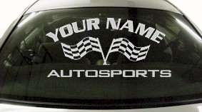 Custom718 Custom YOURNAMEHERE Autosports Decal