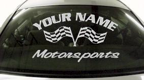 Custom719 Custom YOURNAMEHERE Motorsports Decal