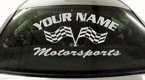 Custom720 Custom YOURNAMEHERE Motorsports Decal