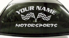 Custom721 Custom YOURNAMEHERE Motorsports Decal