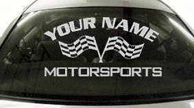 Custom722 Custom YOURNAMEHERE Motorsports Decal