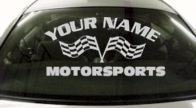 Custom723 Custom YOURNAMEHERE Motorsports Decal