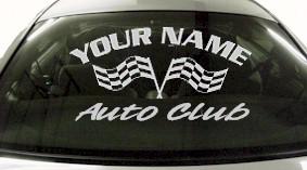 Custom740 Custom YOURNAMEHERE Auto Club Decal
