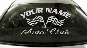 Custom742 Custom YOURNAMEHERE Auto Club Decal