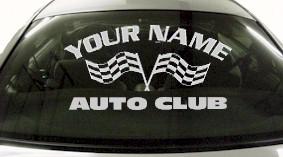Custom744 Custom YOURNAMEHERE Auto Club Decal