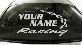 Custom753 Custom YOURNAMEHERE Racing Decal