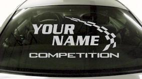 Custom766 Custom YOURNAMEHERE Competition Decal