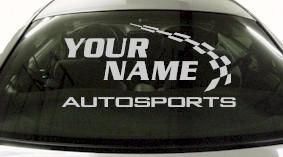 Custom768 Custom YOURNAMEHERE Autosports Decal