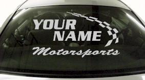 Custom770 Custom YOURNAMEHERE Motorsports Decal