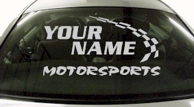 Custom771 Custom YOURNAMEHERE Motorsports Decal