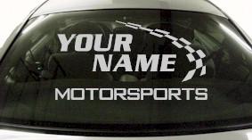 Custom772 Custom YOURNAMEHERE Motorsports Decal