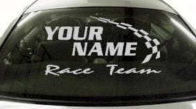 Custom775 Custom YOURNAMEHERE Race Team Decal