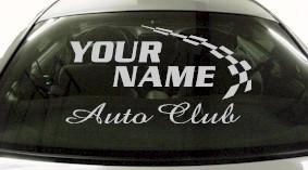Custom792 Custom YOURNAMEHERE Auto Club Decal